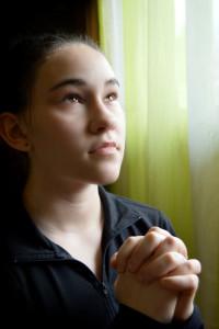 girl repenting